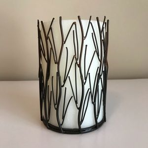 Decorative Metal Candle & Candle Holder!